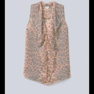 Aritzia T. Babaton Cheetah Print Ainsley Blouse